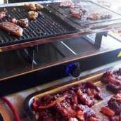 Carne a la Piedra con Champiñón en Raclette