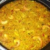 Paella Mixta con Toque de Soja