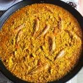 Paella de Pavo y Marisco