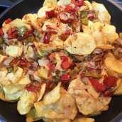 Revuelto de Patatas, Huevo y Pimientos