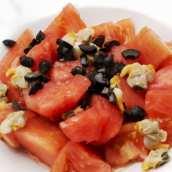 Ensalada de Tomate, Sandía y Berberechos
