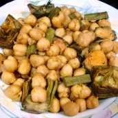 Garbanzos con Alcachofas y Mejillones