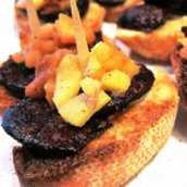 Pincho de Morcilla y Manzana Caramelizada