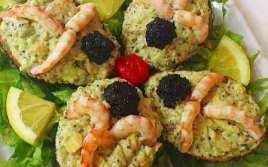 Aguacates Con Gambas Y Caviar