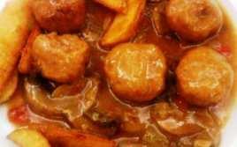 Albóndigas de Pollo con Salsa de Soja y Champiñones