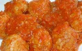 Albóndigas Con Tomate Y Almendras