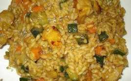 Arroz Con Verduras, Pollo Y Ras Al Hanout