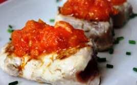 Atún a la Plancha con Tomate Natural