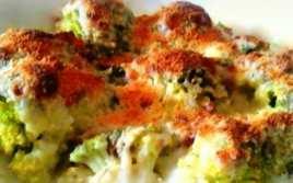 Brócoli Gratinado con Jamón al Ajillo