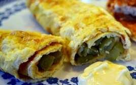 Canelones de Tortilla con Judías Verdes