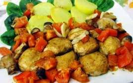 Champiñones al Horno con Tomates