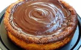 Cheesecake con Turrón y Chocolate