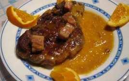 Chuletas de Cerdo con Naranja y Cerveza
