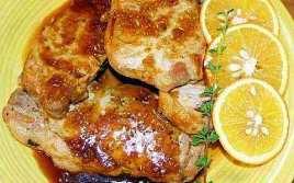 Chuletas A La Naranja Con Miel