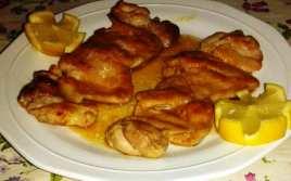 Contramuslos de Pollo al Limón