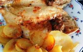 Dorada a la Vizcaína con Patatas