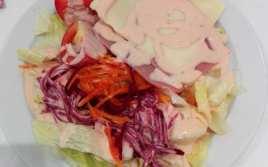 Ensalada Mixta con Salsa Rosa