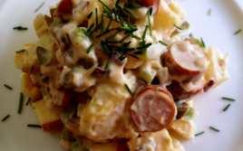 Ensalada de Patatas con Salchichas