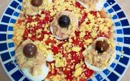 Ensalada de Pimientos con Huevo y Atún