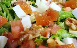 Ensalada con Queso y Membrillo