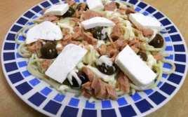 Espaguetis Con Atún Y Queso Blanco