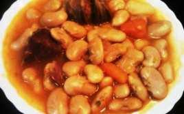 Fabes con Chorizo y Jamón
