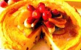 Flan Al Horno Con Frutas