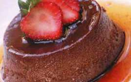 Flan de Chocolate ligero