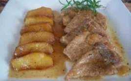 Lomo A La Sidra Y Manzana Caramelizada