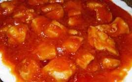 Magro De Pollo Con Tomate Frito