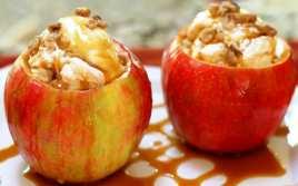 Manzanas Rellenas de Helado