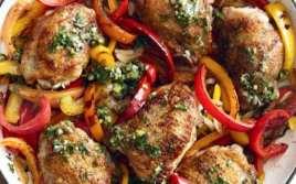 Muslitos de Pollo con Pimientos