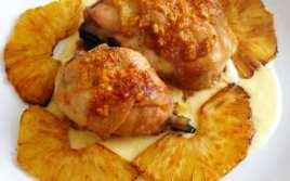 Muslos de Pollo con Nata
