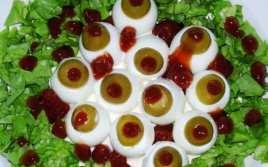 Ojos de Huevo Ensangrentados para Halloween