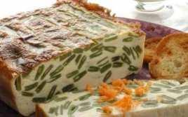 Pastel De Judías Verdes Con Crema De Champi
