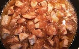 Pechuga de Pollo con Cebolla Caramelizada