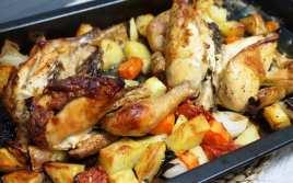 Pollo al Horno con Patatas y Verduras