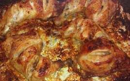 Pollo Asado con Zumo de Naranja y Sopa de Cebolla