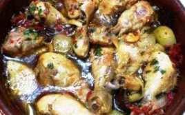 Pollo En Salsa Con Champiñón