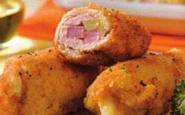 Rollitos De Pollo Con Jamón Empanados