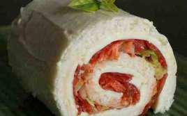 Sandwich De Pan De Molde Enrollado