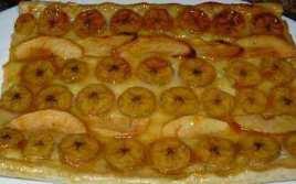Tarta De Hojaldre Y Plátanos