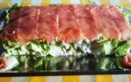 Tarta Salada De Atún Y Salmón