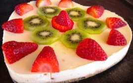 Tarta de San Valentín con Frutas