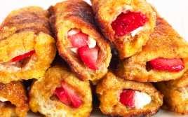 Torrijas Rellenas de Fresas y Nata