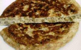 Tortilla de Espárragos Verdes con Pan Rallado