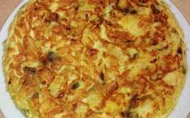 Tortilla de Patatas y Pimiento Verde en Microondas