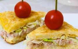Tortilla De Patatas Rellena De Atún