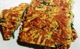 Tortilla de Rúcula, Atún y Cebolla