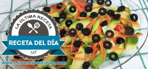 RECETA DEL DÍA: Ensalada con Aguacate y Aceitunas Negras